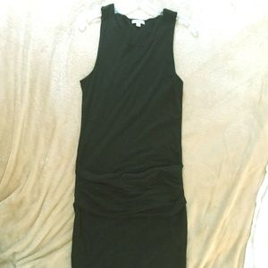 James Perse Black Draped tank dress - Size XL